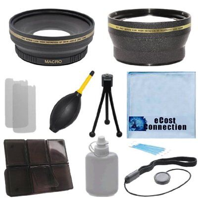 72mm 0.43x Wide Angle + 2.0x Telephoto Lens for Canon 15-85mm Canon 18-200mm