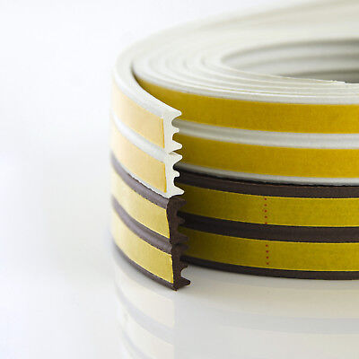 E profile white WINDOW SEAL self-adhesive strip rubber door draught excluder