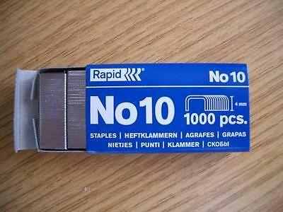 Rapid Number No. 10 (Fit Rexel 4mm x 9mm) Staple x Box of 1000 Staples