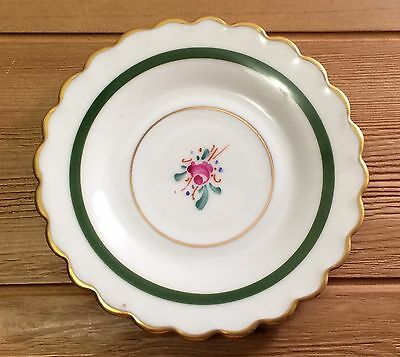 "Vintage Imperial Plate Dish Floral Scalloped Made In France 4.25"" Diameter"
