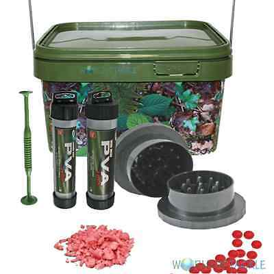 Boilie Grinder Krusha and PVA Mesh and 5l Bucket Carp Fishing Bait Crusher
