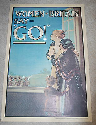 Women of Britain Say GO!- E. Kealey Poster Reproduced Imperial War Museum