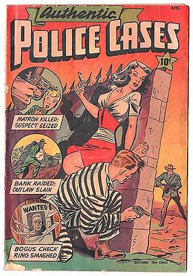 Authentic Police Cases #5 St John Publications Oct 1948 GD+