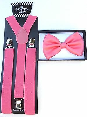 Piano Style Men /& Women Combo Suspender and Bow Tie