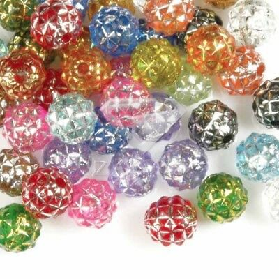 *Lot 50 Perles En Acrylique 8x8x8mm Assorti Round Bijoux AR0398*