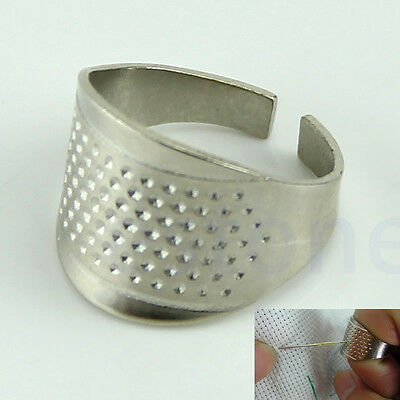 10pcs Thimble Sewing Quilting Metal Rings DIY Craft Finger Protectors