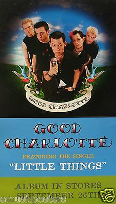 "GOOD CHARLOTTE ""LITTLE THINGS/ON TOUR"" 2-SIDED U.S. POSTER / BANNER -Group Shots"