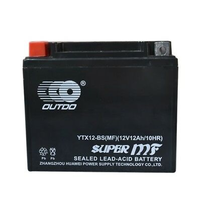 12V 10Ah AGM YTX12-BS Battery for Suzuki Honda Aprilia Kawasaki Free AU Shipping
