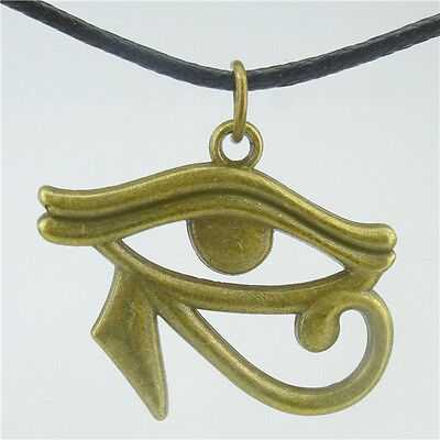 "Egyptian Eye of Horus Ra Amulet Pendant 17"" Choker Collar Short Necklace 15810"