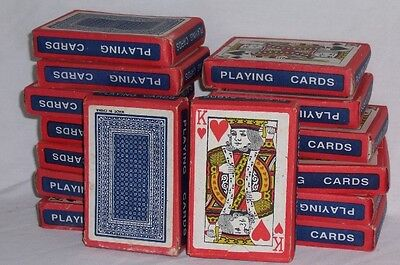 New Lot of 20 Decks of PAPER PLAYING CARDS Not Coated Great For Games Giveaways
