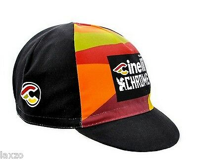 Cinelli Team Chrome Cotton Cycling Racing Cap  Vintage -Fixed Gear Made In Italy