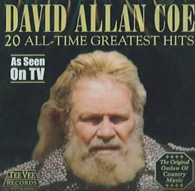 David Allan Coe - 20 All Time Greatest Hits New Cd