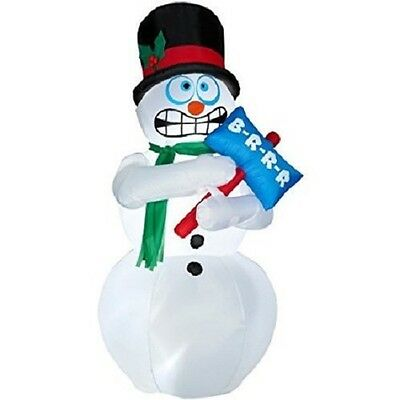 Gemmy Animated Air Blown Shivering Snowman Inflatable Yard Decoration Christmas