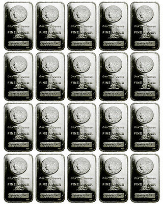 Lot of 40 Bars - Morgan Dollar Design 1 oz .999 Fine Silver Bar SKU29389