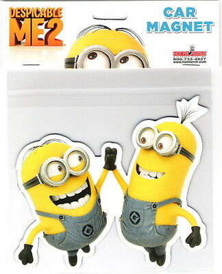 Despicable Me Movie Minions High Five Figure Large Car Magnet, NEW UNUSED