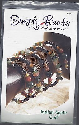 Indian Agate Coil ~ Simply Beads Kit Of The Month Club -  Bd003