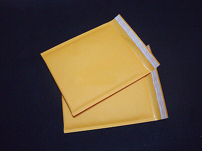 New 10X 130*130+40mm Kraft Bubble Bag Padded Envelopes Mailers Shipping Yellow #