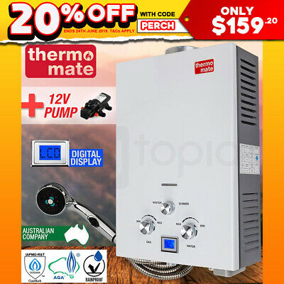 THERMOMATE Gas Hot Water Heater- Portable Shower Camping LPG Instant 4WD Outdoor