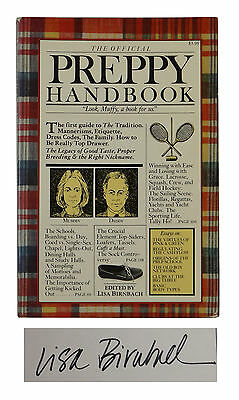 The Official Preppy Handbook ~ SIGNED by LISA BIRNBACH ~ 1980 Softcover Prep