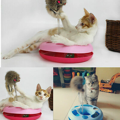 Pet Cat Toy Funny Moving Mouse Playing Ball Activity Disk Training Interesting