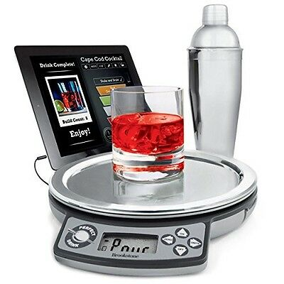 Perfect Drink Cocktail Making Kit with Scales Stainless Steel Shaker + App