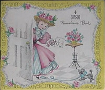1957-58 Gibson Greeting Card Company Remembrance Book