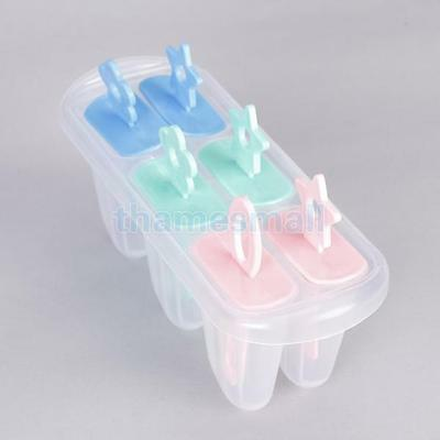 Ice Popsicle Maker Ice Cream Mold Set of 6 Freeze Pops for Party Food DIY HOT