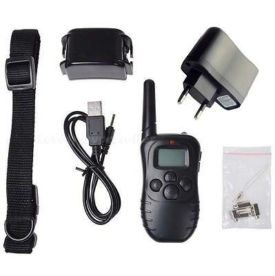 300M 100 Level Shock Vibra Remote Rechargeable LCD Pet Dog Training Collar LSRG