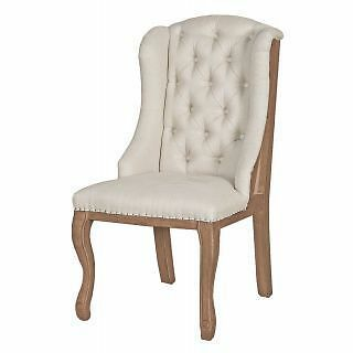 Accent High Back Tufted Dining Chair with Wings SL-7002