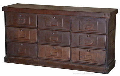 ART-010 Indutrial Iron Storage Chest / TV Stand