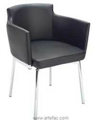 Black Swivel Leather ArmChair SR-10931
