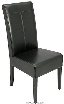 Black Leather Dining Chair w/T-Patch on Special  R-052