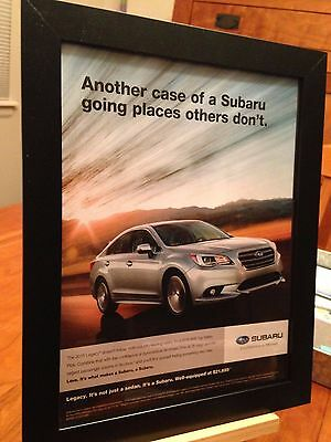 1 FRAMED SUBARU OUTBACK LEGACY IMPREZA CROSSTREK FORESTER PROMO AD- 12 available