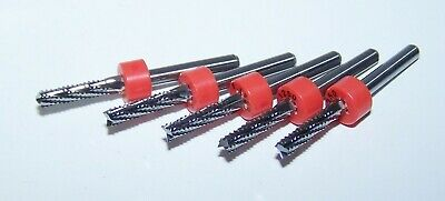 """(5)  1/8"""" (.1250"""")  CHIPBREAKER CARBIDE ROUTER BURRS, FT Kyocera Tycom"""