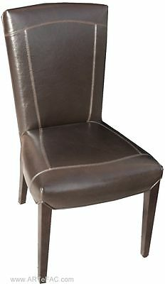 Chestnut Brown Leather Chair RV-316