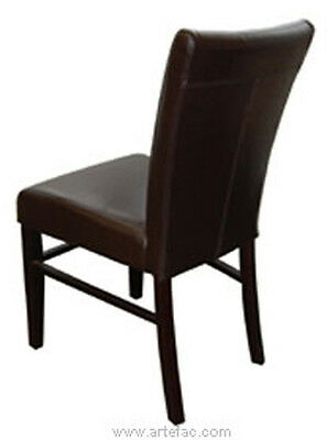 Fan Back Leather Dining Chair RV-3678
