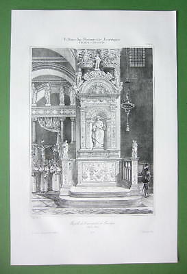 ITALY Venice Chapel in Basilica of St. Mark's - SUPERB Litho Antique Print