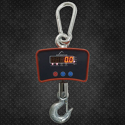 Digital Crane Hanging Scale 500 KG / 600 LBS Heavy Duty Industrial LED Display