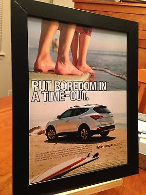 1 FRAMED ORIGINAL HYUNDAI SANTA FE & TUCSON SUV AUTO PROMO AD - choose from 4!
