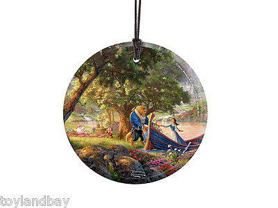 StarFire Prints Hanging Glass Ornament SPCIR482 Kinkade Beauty and the Beast