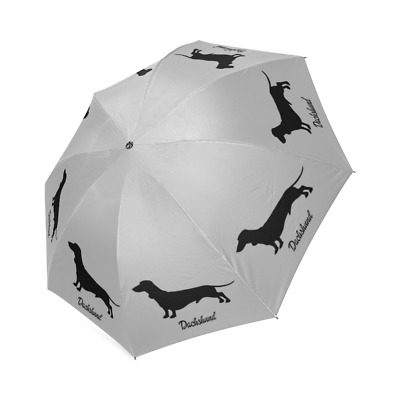 Black DACHSHUND Dog Puppy Collection Auto Foldable Polyester UMBRELLA Free Ship