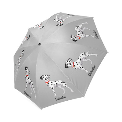 White DALMATIAN Dog Puppy Collection Auto Foldable Polyester UMBRELLA Free Ship