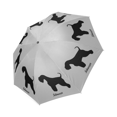 Black SCHNAUZER Dog Puppy Collection Auto Foldable Polyester UMBRELLA Free Ship