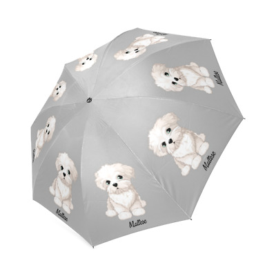 MALTESE UMBRELLA Foldable Lion Puppy Dog Lovers Stuff Loss Memorial Gifts Idea