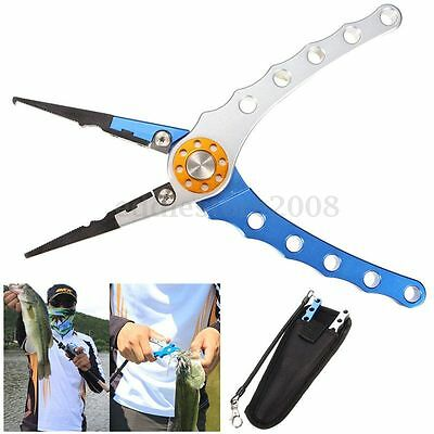 7.9'' Aluminum Fishing Pliers Tackle Tool Hook Remover Line Cutter Fish Plier