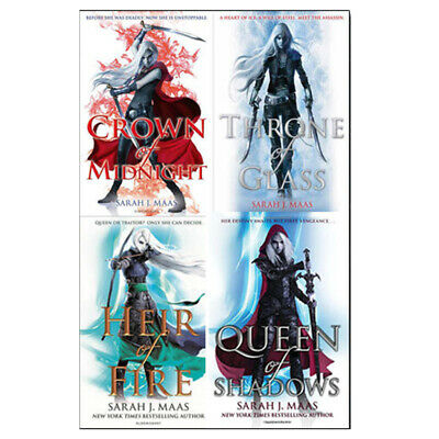 Sarah J. Maas Collection Throne of Glass Series 4 Books Set Queen of Shadows NEW