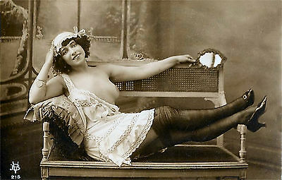 A4 Vintage 1920's Art Deco Pretty Nude Girls ..Victorian/Edwardian Beauties 212