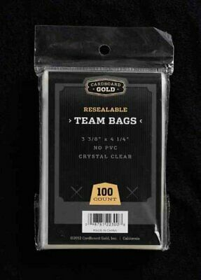 100 (1 Pack) CBG PREMIUM Resealable Ultra Team Bags NEXT GENERATION Pro TB