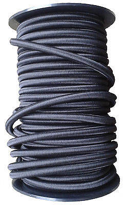 12mm Elastic Shock Cord, Bungee Rope, Tie Down, Black, Strong, Heavy Duty