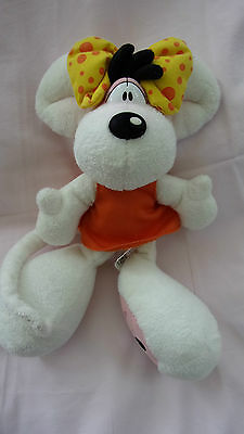 Peluche plush DIDDL DIDDLINA Depesche (28cm) robe orange